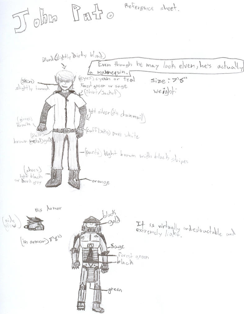 OC reference sheet John Puto by Logan-Spartan125
