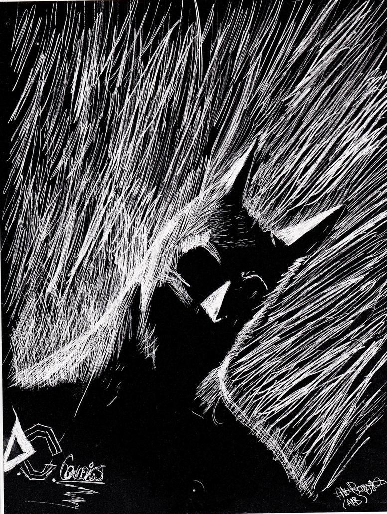 Batman Scratch Art by TheNerdyTurtle on DeviantArt