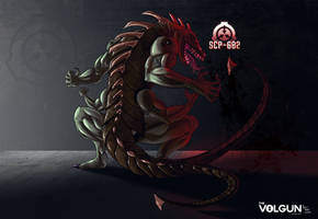SCP-682 (Concept Artwork) by Zenith-strife