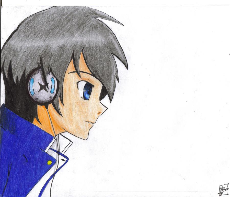 Images For > Anime Guy Headphones Wallpaper
