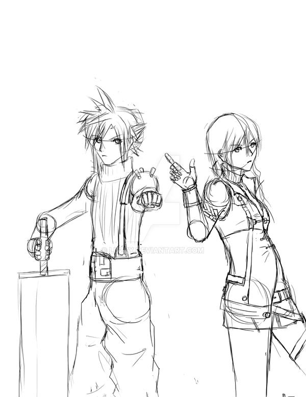 Cloud X Lightning Rough Sketch By Luzzy On Deviantart