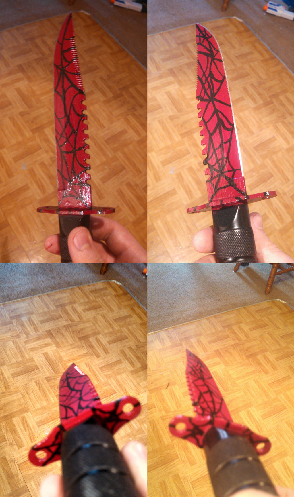 crimson web cs go knife design by doppelganger1994 on deviantart