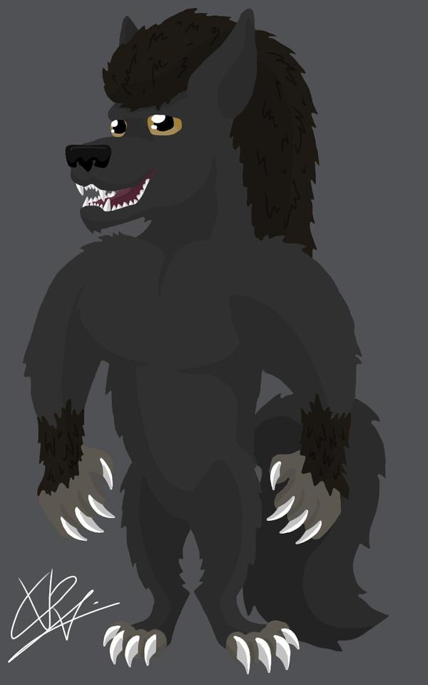 Werewolf cartoon by ConceivedRaptor