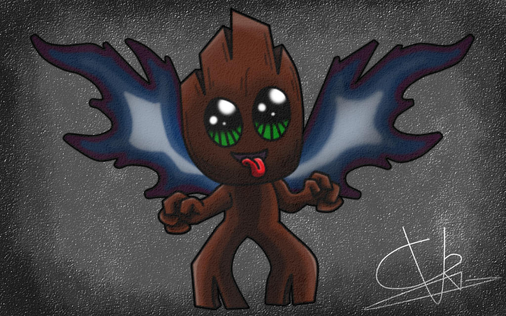 Cute creature baby with wings by ConceivedRaptor