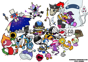 Paper Mario Group by bluemage13