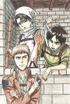 Eren, Jean and Levi