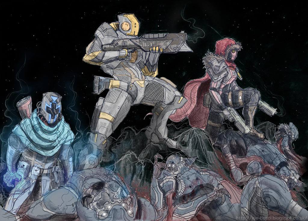 Destiny - Moon Assault Fireteam by Fuelreaver