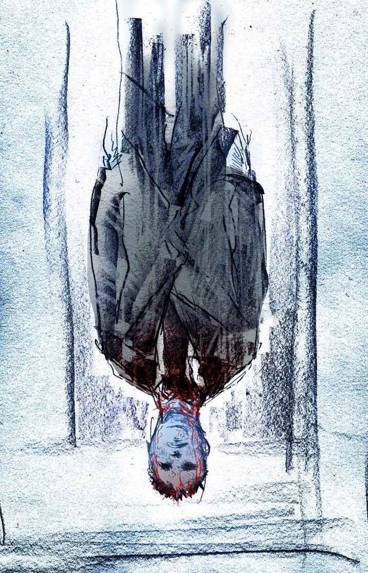 Upside Down Art Upside Down Blue Man By Fuelreaver On Deviantart