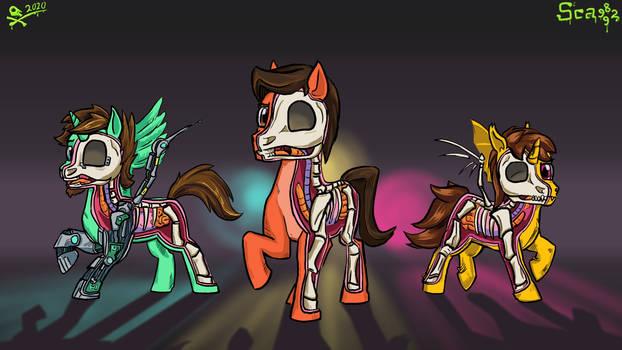 Spooky scary pony merch
