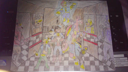 ultimate spiderman in fnaf  by guardiancreation