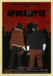 Apocalypse old movie poster by Lilly-and-Co