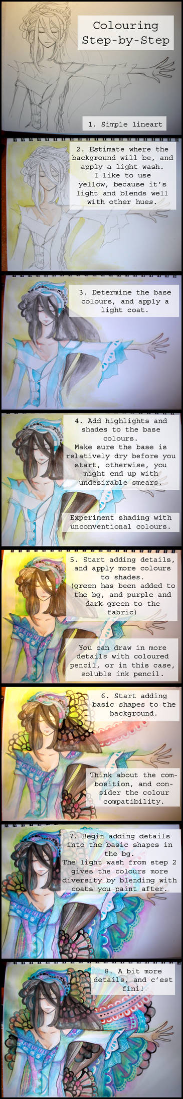 Step-by-Step Colouring