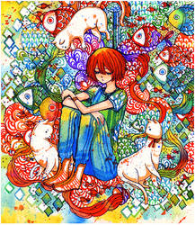 cat nap by koyamori