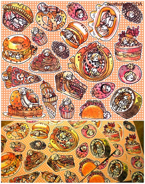 foodies sticker set by koyamori
