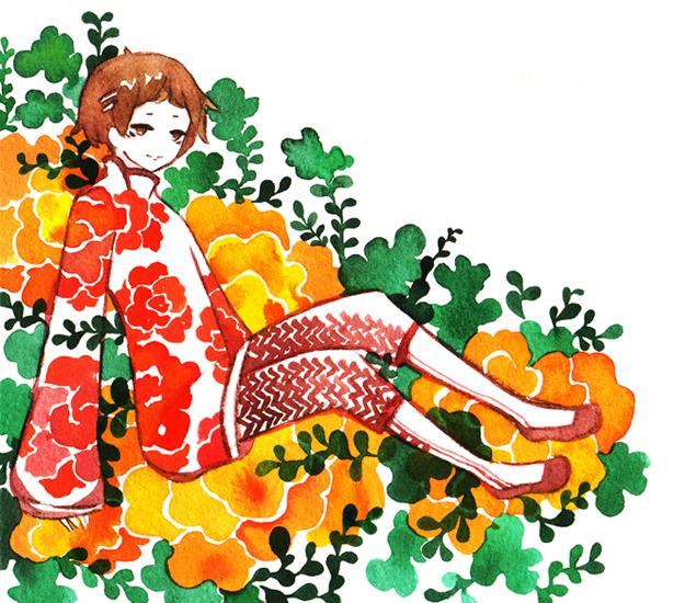 pumpkin flower by koyamori
