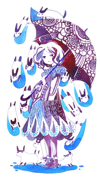 raining animals by koyamori