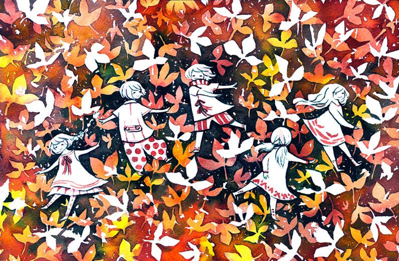 leaf dancers by koyamori