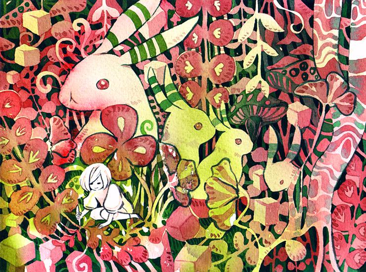 drawing a jungle by koyamori