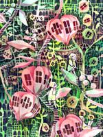 lantern plant house by koyamori
