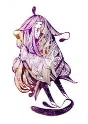 kedama shawl by koyamori
