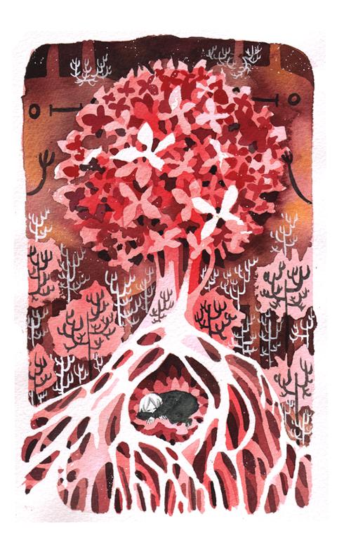 red hydrangea by koyamori