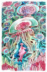 Sea uribo and jellyfish
