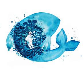 Swallowed by a fish by koyamori