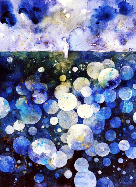 sky sea space by koyamori