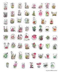 Terrarium cards by koyamori