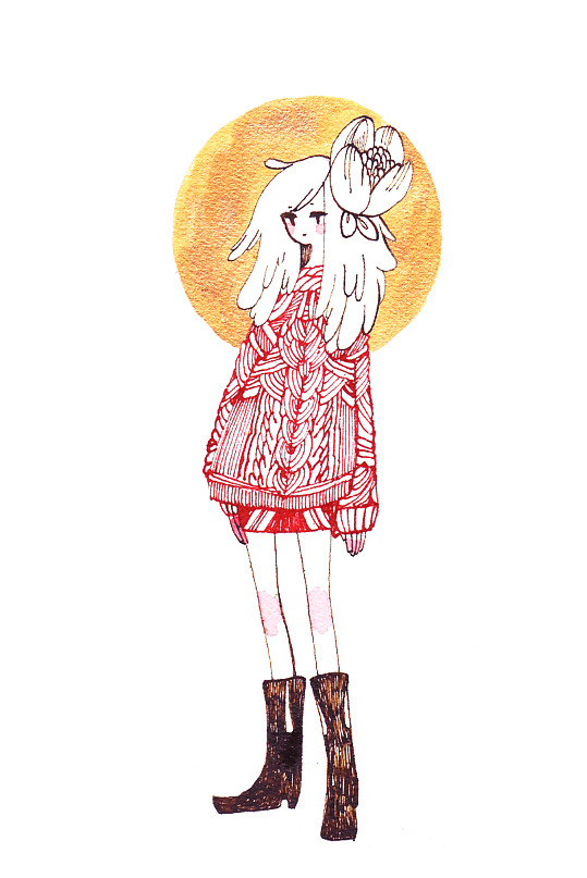Red Sweater by koyamori