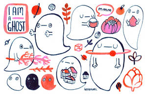 I am a ghost sticker sheet