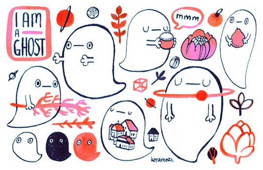 I am a ghost sticker sheet