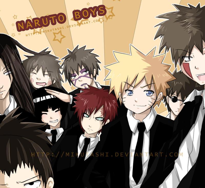 +Naruto Boys+ by Mikutashi