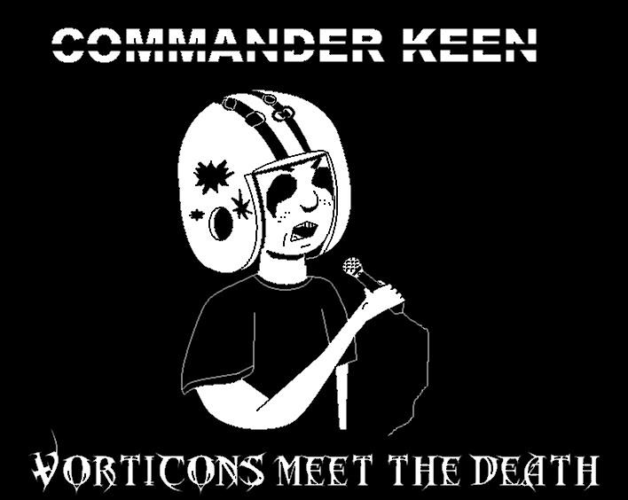 Black metal Commander Keen - Bday gift for szemi by alitta2