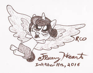 Inktober Flurry Heart