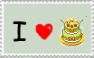 i heart cakes stamp by Blancas888
