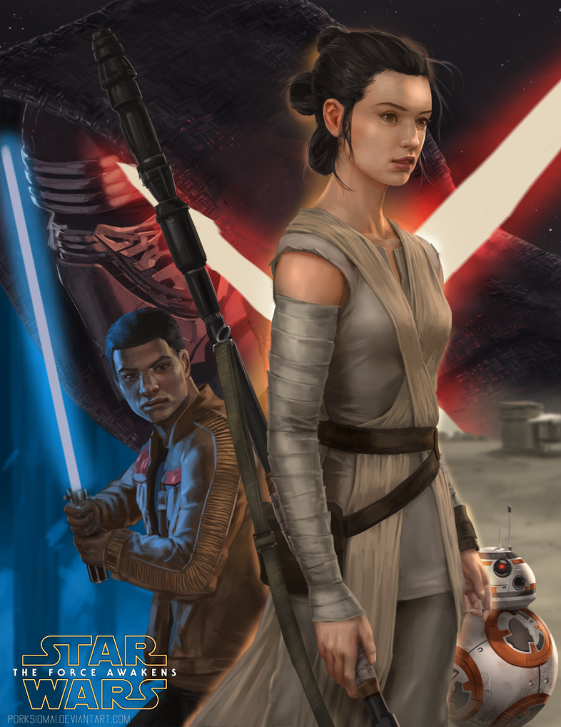 The Force Awakens by porksiomai