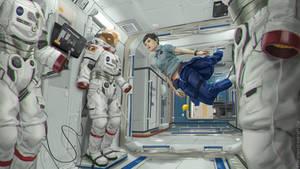 Space Station 1 by porksiomai