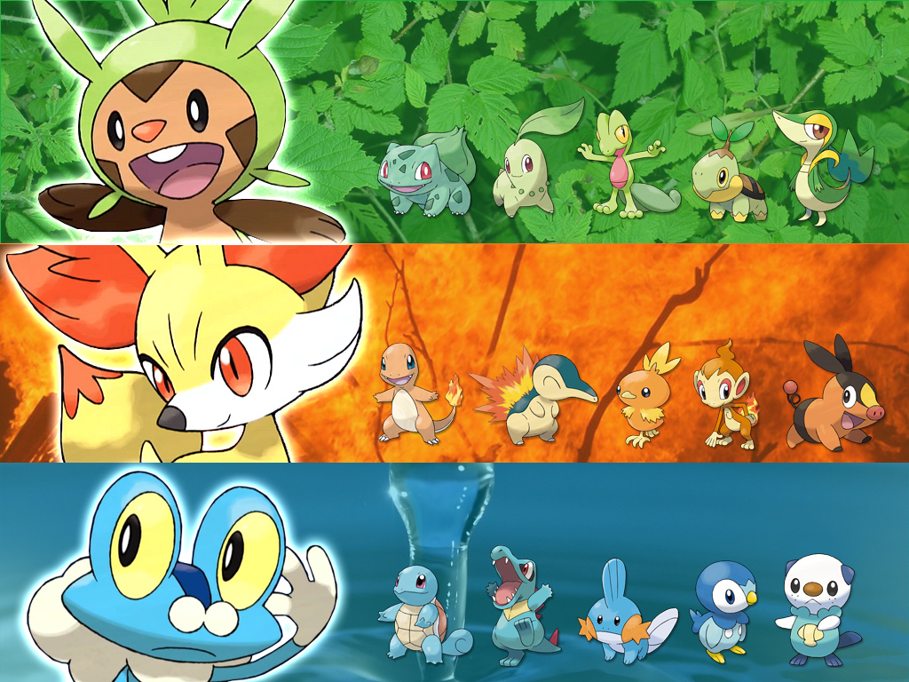 Wallpapers 1 Pokemon Xy Starters By Jonouchi Pkmn On Deviantart