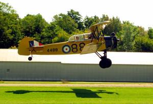 Tiger Moth Takes Off