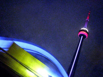 CN Tower and Skydome by laurelrusswurm