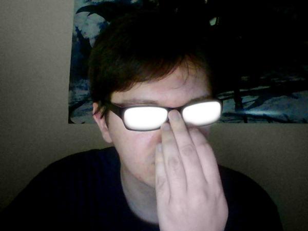 Anime Glasses Glare Meme