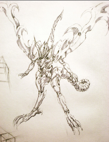 sketch book random drawing 01 by kaminarisora