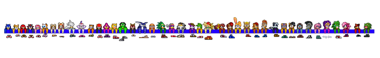 Ultimate Sonic Sprite Stocks by wantwon