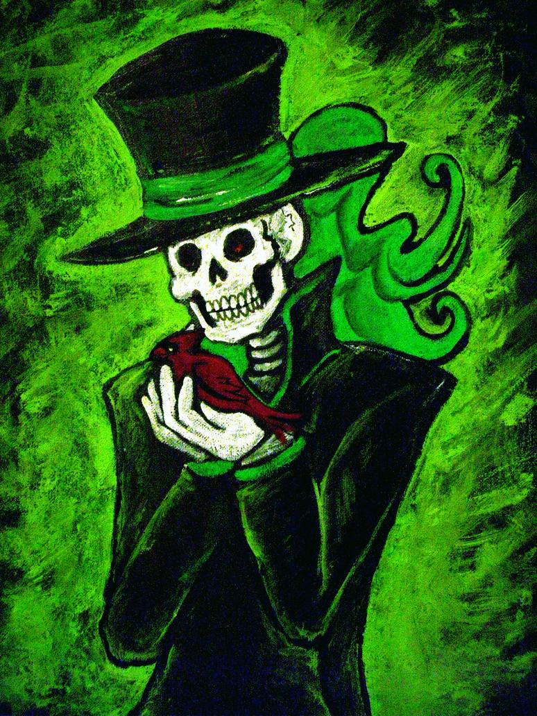 Gentleman Death in Green by DemonicNeko