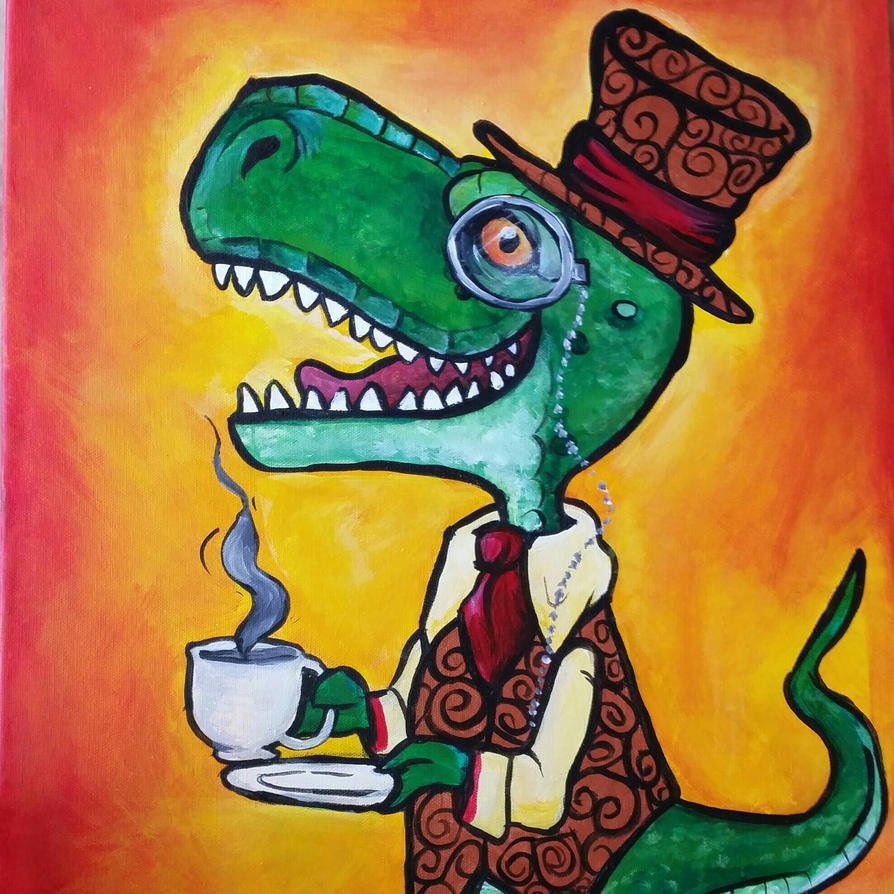 Tea Rex version 2.0  by DemonicNeko