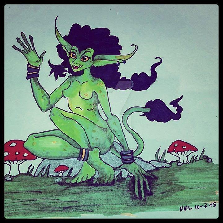 Drawlloween Day 3 Goblin by DemonicNeko