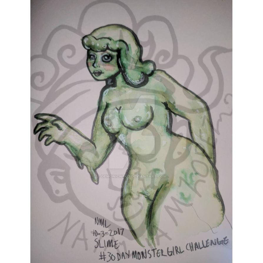 30 Day Monstergirl Challenge Day 3 Slime by DemonicNeko