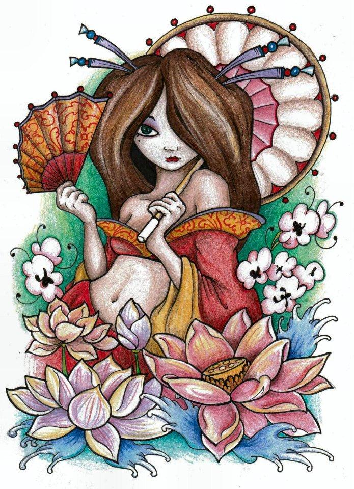 New Skool Geisha By Simonvalentine On Deviantart