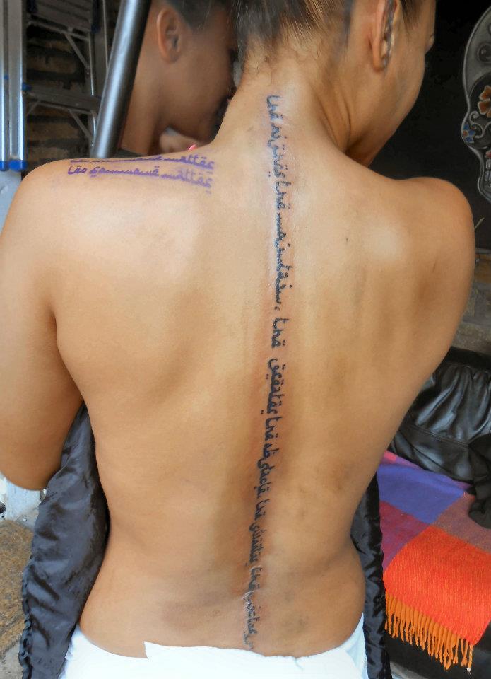 Spine tattoos pinterest girl